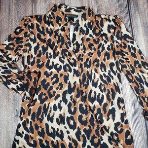 INC leopard print dress medium